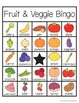 Fruit and Vegetable Bingo with 30 Unique Cards
