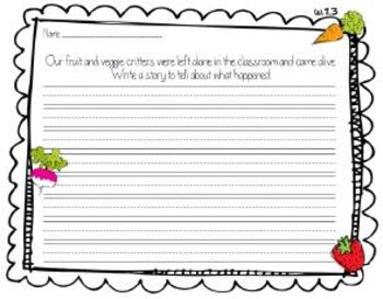 Fruit and Veggie Critters Fall Activity