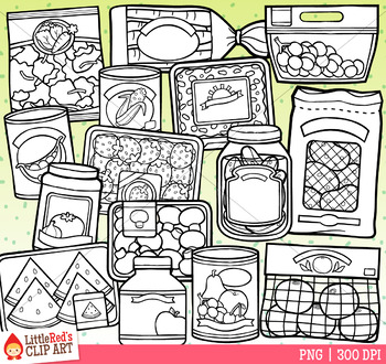 Fruit and Veggie Food Clip Art