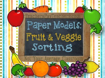 Fruit & Vegetable Sorting and Counting Activities Learning