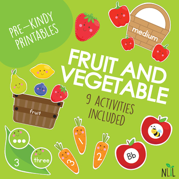 Fruit and Veggie Preschool Pack