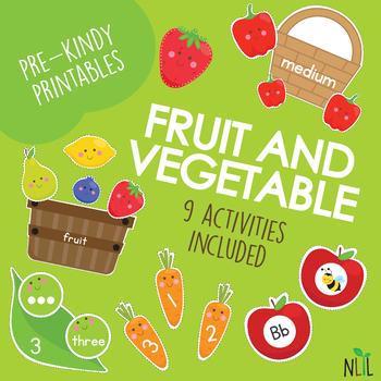 Fruit and Veggie Preschool Pack