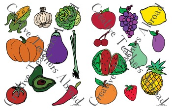 Fruit and Veggie Sorting Activity