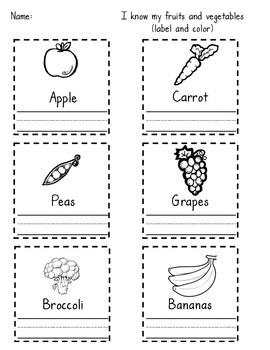 Fruit and Veggie Unit
