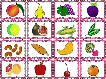 Fruit and Veggies Syllable Sort for the Hungry Monster in You!  RF.K.2b