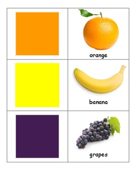 Fruit and color cards