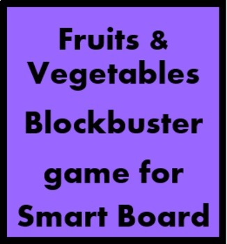 Fruits and vegetables Blockbuster game for Smartboard