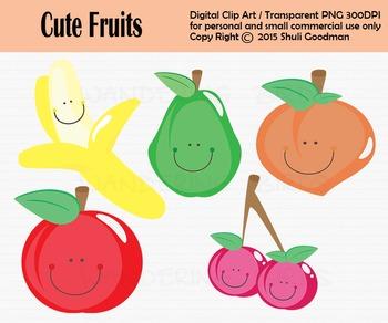 Fruit clip art - set of 5 clip arts
