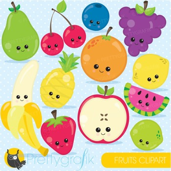 Fruit clipart commercial use, graphics, digital clip art,