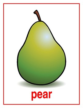 Fruit in English Posters
