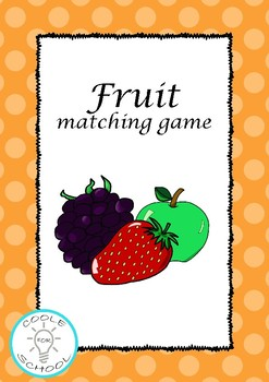 Fruit flashcards matching game colour