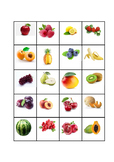Fruit memory game for ESL students