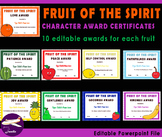 Fruit of The Spirit Character Award Certificates - 90 Edit