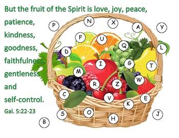 Fruit of the Spirit ABC Match