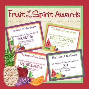 photograph relating to Printable Fruit of the Spirit referred to as Fruit of the Spirit Award Certificates (Editable)
