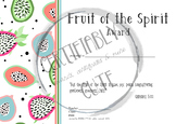 Fruit of the Spirit Award -- FREE!