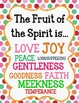 Fruit of the Spirit BUNDLE with bonus coloring sheets and record keeping charts