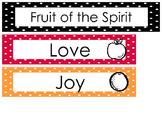 Fruit of the Spirit Bulletin Board Set Preschool-Kindergarten Bible.