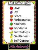 Fruit of the Spirit Classroom Chart