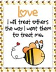 Bee Themed Fruit of the Spirit Classroom Rules Posters *FREEBIE!*