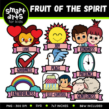 fruit of the spirit clip art galatians 5 22 23 by smart arts for kids rh teacherspayteachers com fruit of the spirit love clipart fruit of the spirit love clipart