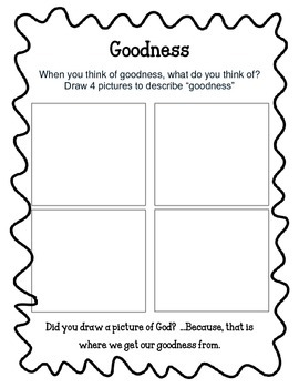 Fruit of the spirit worksheets kidz activities for Fruit of the spirit goodness craft