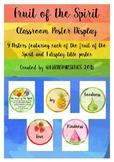 Fruit of the Spirit Poster Display - Watercolors / Watercolours