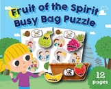 Fruit of the Spirit Puzzle Busy Bag, Preschool, Kindergarten  homeschool