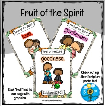 Fruit of the Spirit Scripture Cards