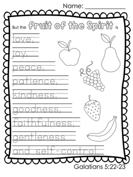 Fruit of the Spirit Unit