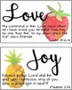 Fruit of the Spirit Watercolor Posters for Church/School