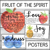 Fruit of the Spirit Watercolor Posters for Church School