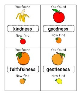 Fruit of the Spirit Write the Room Word Hunt (Bible Activity; Galatians 5:22-23)