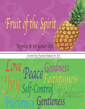 Fruit of the Spirit - application and life skills practice and competition