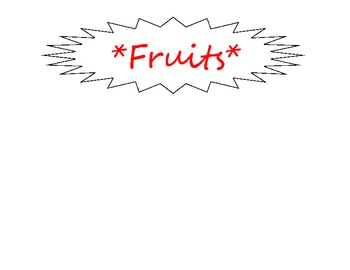 Fruit or Vegetable File Folder Game