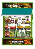 Fruit Store Bilingual A3 Poster.Italian/English
