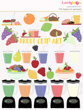 Fruit smoothie symbols clipart, fruit juice clipart (LC07)