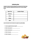 Fruit themed data collection sheet