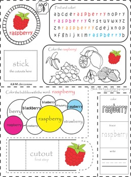 ESL Interactive Notebook Fruits