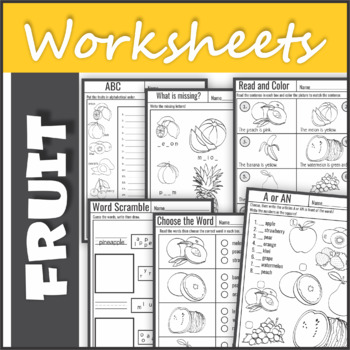 Vocabulary Practice - Fruit Worksheets