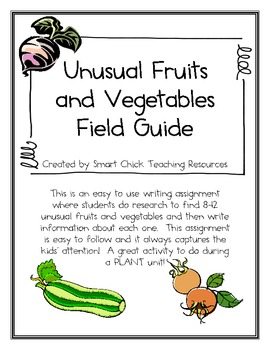 Fruit/Vegetable Guide Project Sheet - Writing a Field Guide