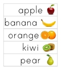 Fruit/Vegetable Word Cards with Pictures