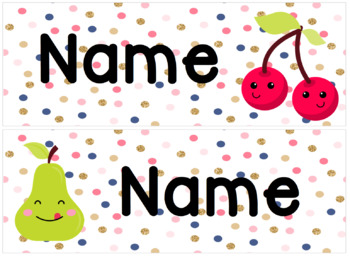 Fruitilicious Tray Labels, Name Tags
