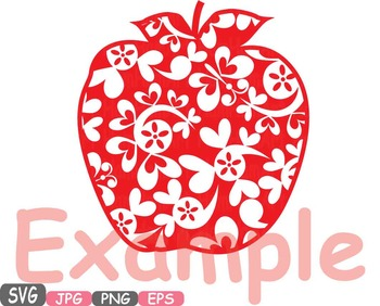 Fruits Apples & Pears apple pear clipart health fitness svg school teacher -463s