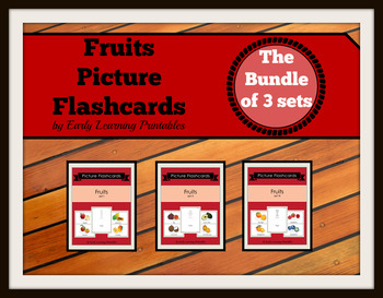 Fruits BUNDLE (set I, II, III) Picture Flashcards