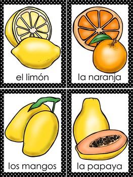 Fruits Bingo In Spanish