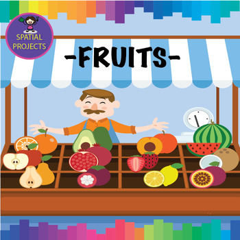 Fruits - CUTOUTS, Classroom Decor, Bulletin board, Printable