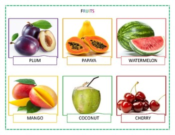 Fruits chart - Realistic Pictures