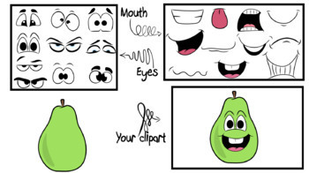 Fruits- Clipart Creator Kit- For Personal or Commercial use