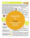 Fruits Content Sheet, Worksheet And Answer Key